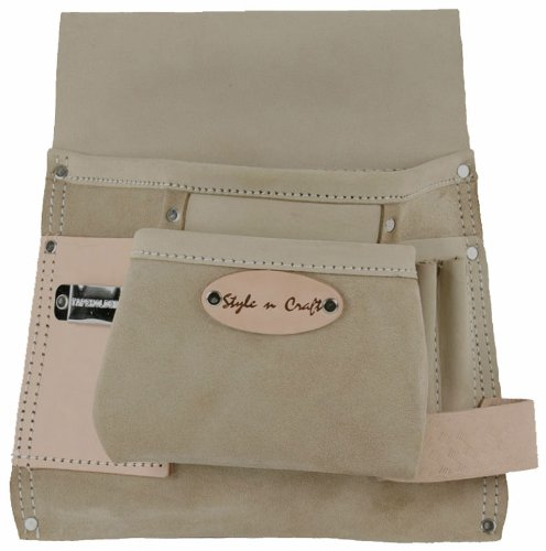 Style n Craft 92-825 6 Pocket Top Grain Tool Belt Pouch