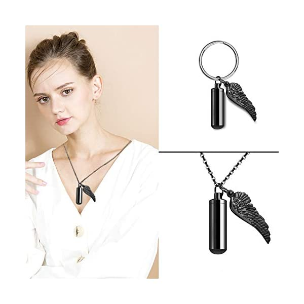 Mini Cross Cremation Necklace for Ashes Stainless Steel Hold Loved Ones Ashes Keepsake Jewelry for Women//Men