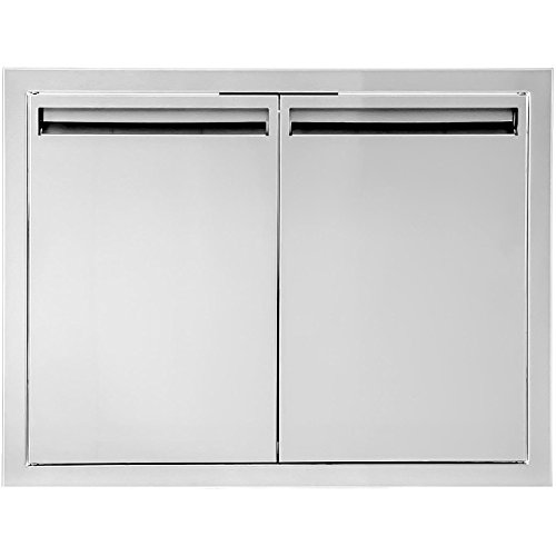 BBQGuys Aspen Series 27-Inch Stainless Steel Double Access Door