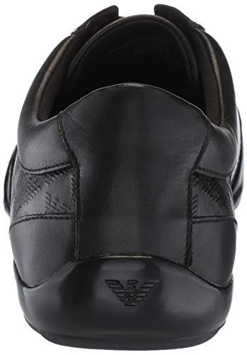 Sneaker Embossed Armani Herren Schwarz Schwarz Formal Emporio PpZxwqTIq