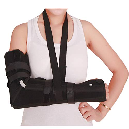 Elbow Sling, Adult Full Arm Brace for Elbow Forearm Post-Surgery Immobilizer & Fracture Splint with 7 Straps ()