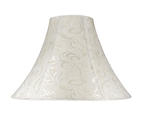 Aspen Creative 30020 Transitional Bell Shape Spider Construction Lamp Shade in Off White, 16