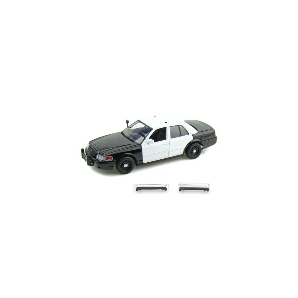 2007 Ford Crown Victoria Police Car Blank 1/24 Black / White