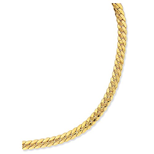 SF Bijoux - Collier plaqué or maille anglaise (42 cm) - (301951-45)