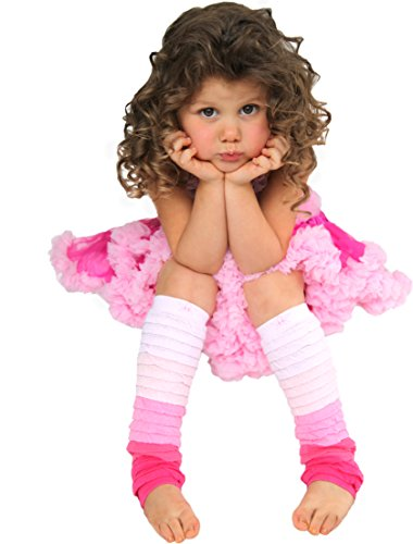 Huggalugs Girls Pink Ombre Rhumba Legruffles, Regular (fits