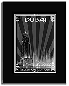 Address Hotel Down Town- Black And White With Silver Border F04-nm (a5) - Framed