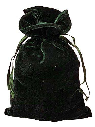 Hunter Green Velvet 6x9 Tarot and Dice Bag