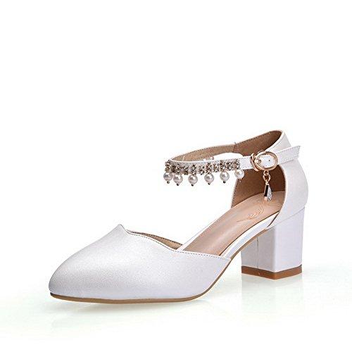 36 AdeeSu Blanc Compensées Sandales Femme EU Blanc 5 O1q1XryvA
