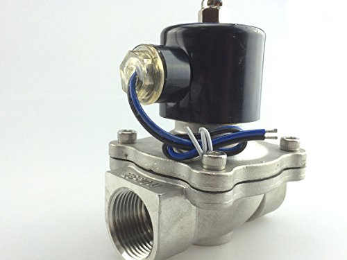 """Baco Engineering 1/2"""" 24V NPT Stainless Steel NC Electric Solenoid Valve"""