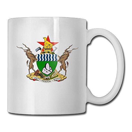 LoveoorheebGHu Funny Coat Of Arms Of Zimbabwe Unique Coffee Mug 11 Oz White Ceramic Cup For Tea