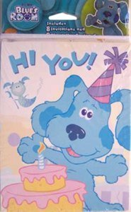 Package of 8 Invitations and 8 Thank You Combo Blues Clues Room