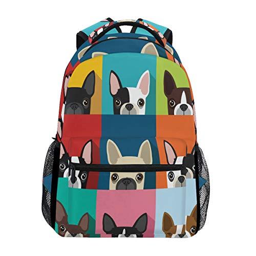 BETTKEN Cute Animal Dog Pattern Print Backpack Travel School College Book Bag Shoulder Bag Camping Hiking Laptop Daypack ()