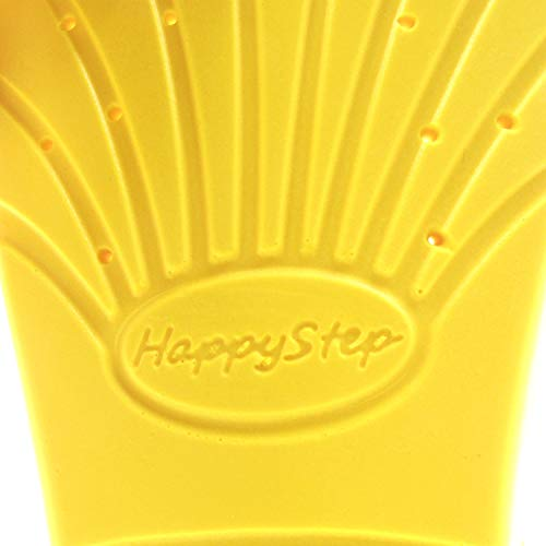 HappyStep Memory Foam Insoles, Cushioned Arch Support Providing Shock Absorption and Cushioning, Unisex, 5/10 UK,Yellow