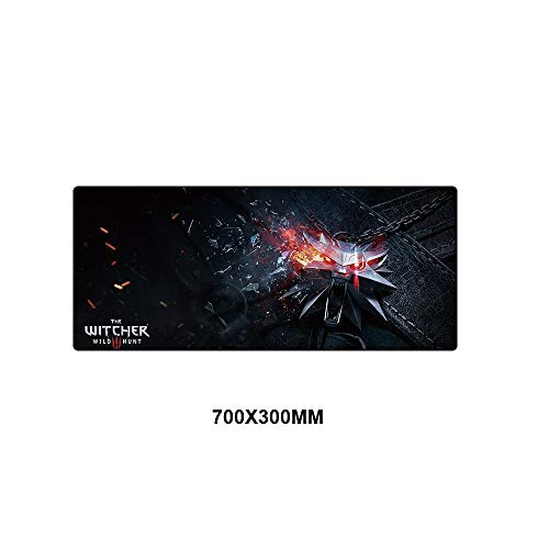 XIAOXIANNV Witcher 3 Mouse Pad Large Gaming Locking Edge Mousepad Gamer Keyboard Mouse Mat Speed Version for Dota2 Cs Go Washable DIY Pads