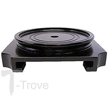 T-Trove Round Top Square Bottom Wood Stand Base 2 -9