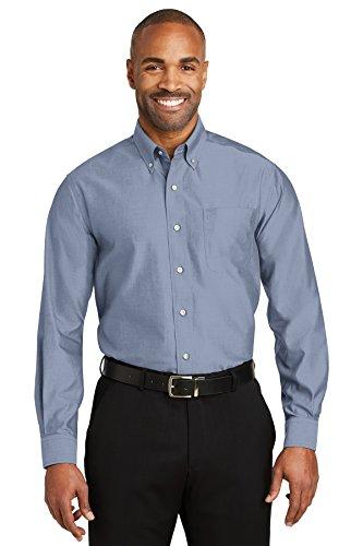 Iron Pinpoint Oxford Shirt. RH24 X-Small Blue ()