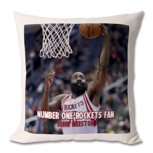 - Star Prints UK James Harden - Houston Rockets - NBA 1 Personalised Autographed Fan Art Large Cushion 18 x 16.5 inch (45 x 42 cm) (with Personalised Message)