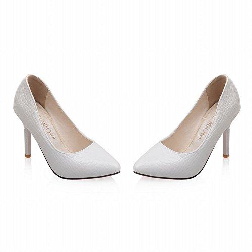 Charm Foot Womens Fashion Classic High Heel Stilettos Pumps Shoes White xVtzs