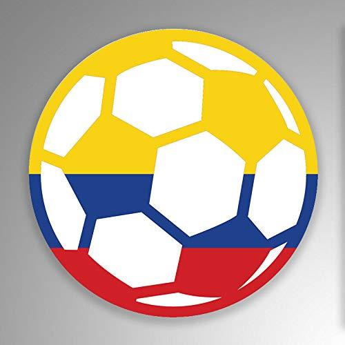 JB Print Colombia Soccer Ball Flag Vinyl Decal Sticker Car Waterproof Car Decal Bumper Sticker 5