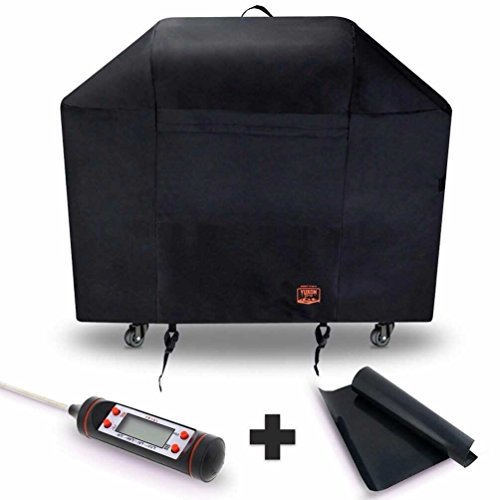 Yukon Glory 7129 Premium Cover for Weber Genesis II with 2 Burners Includes Grilling Kit