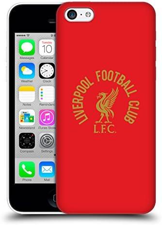 オフィシャル Liverpool Football Club ゴールドLFC on ブラック Liver Bird Apple iPhone 7 / iPhone 8 / iPhone SE 2020 専用ハードバックケース
