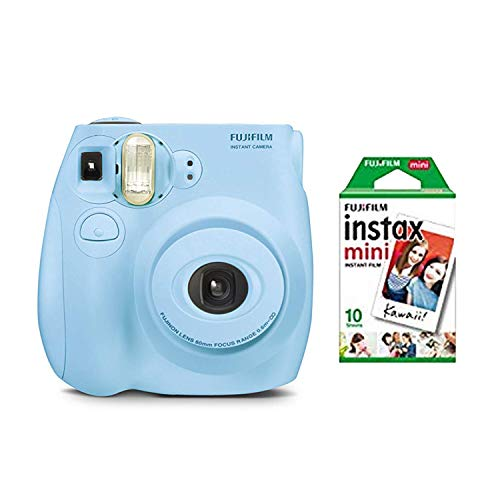 fujifilm instax Mini 7s Light Blue + 10 Exposures Instant Film Camera (New)