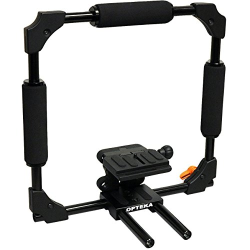 Opteka X-CAGE Video Stabilization Rig for Digital SLR Cameras with Expandable 15mm Rails