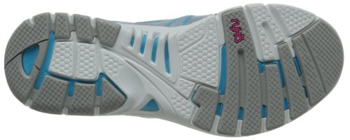 Chaussure De Cross-training Dynamique Ryka Womens Cool Mist Gris / Detox Blue / Athena Pink