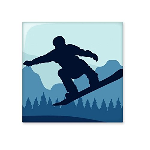Winter Sport Skiing and Skis and Ski Suit and Boots Watercolor Pattern Ceramic Bisque Tiles for Decorating Bathroom Decor Kitchen Ceramic Tiles Wall Tiles 30%OFF
