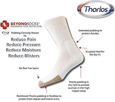 thorlos Mens Tx Tennis Thick Padded Crew Socks