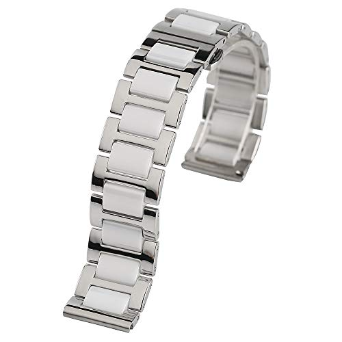 18mm 20mm Stainless Steel Ceramics Watches Band Strap Replac