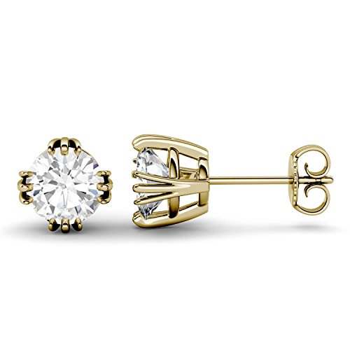 Forever One 6.5mm Round Moissanite Stud Earrings, 2.00cttw DEW (D-E-F) By Charles & Colvard by Charles & Colvard
