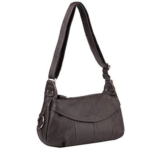 Lecxci Womans Leather Crossbody Shoulder