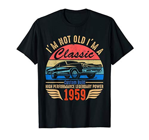 Classic 1959 T-shirt for Men Women 60th Birthday Gift Ideas ()