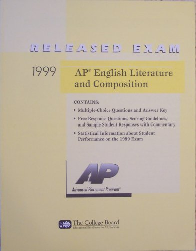 AP English Literature And Composition Released Exam 1999