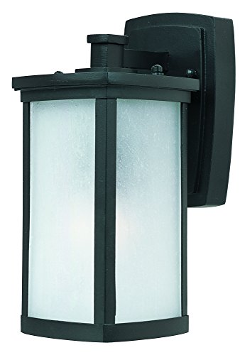 Maxim 3252FSBZ Terrace 1-Light Small Outdoor Wall, Bronze Finish, Frosted Seedy Glass, MB Incandescent Incandescent Bulb , 12W Max., Damp Safety Rating, Standard Triac/Lutron or Leviton Dimmable, Shade Material, 840 Rated Lumens For Sale
