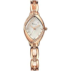 Voeons Women's Rose Gold Bracelet Watches Ladies Luxury Rhinestone Analog Quartz Watch Fashion Dress Wrist Watches for Women