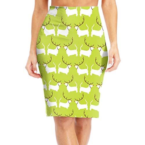 MC WUAHW Pets Dog Christmas Decent Bodycon Pencil Skirt Business Mini Skirt Barrel Tight Dress ()