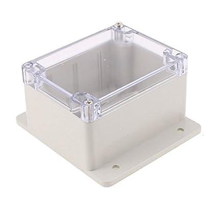 eDealMax 115 x 90 x 70 mm cubierta transparente caja sellada a prueba de agua Junction