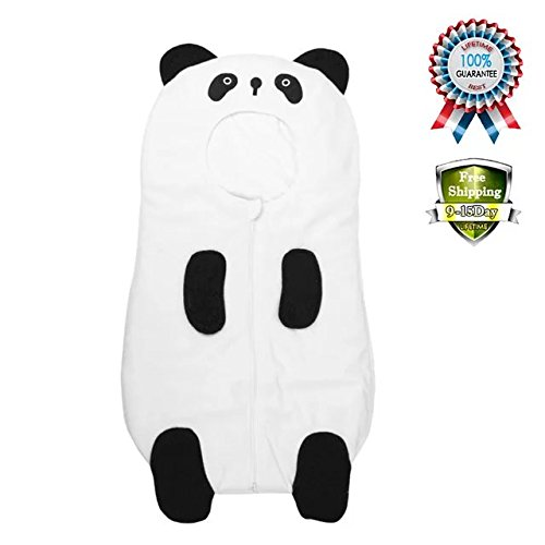 Baby Cute Sleeping Bag Sack Romper Fleece Panda Sleepwear Swaddle Unisex Bodysuit