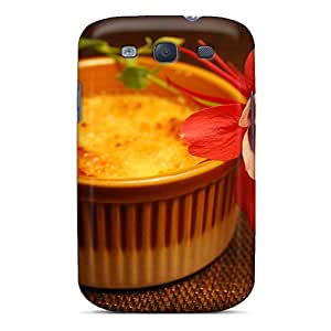 New Design Shatterproof MqsfGhX5045pIEHV Case For Galaxy S3 (red Flower)