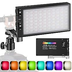 Pixel G1s RGB LED Videoleuchte, Eingebaut 12W Akku Video Licht, Volle Farbe und 12 Farblicht, CRI≥97 2500-8500K Dimmbar…