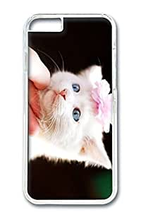 iPhone 6 Plus Case, Protective Slim Hard PC Clear Case Cover for Apple iPhone 6 Plus(5.5 inch)- Girl Cat