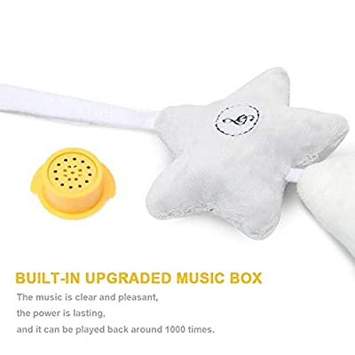 DeerBB White Five-Pointed Star Music Wind Chime Pendant Sound Car Boys and Girls Hanging Crib Bed Bell Companion Toy Baby Bed Rattle Pendant Gift: Toys & Games