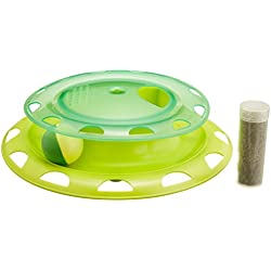Catnip Chaser Cat Play Station Ball and Track Toy for Cats by Petstages
