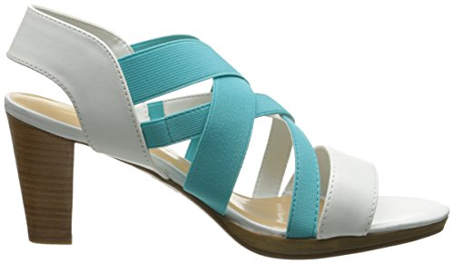 Bella Vita Donna Leeza Ii Platform Sandalo Bianco / Turchese Elasticizzato