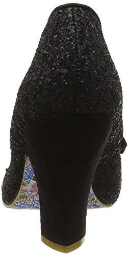 Irregular Choice Women's Nick of Time Closed-Toe Pumps Black (Black Glitter) Hh4UGO