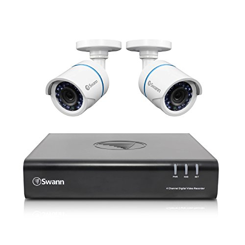 Swann 4 Channel 1080P HD Home Security System with 2 Cameras - Contains 1 x  DVR4-4500, 500GB HDD/ 2 x 720P Cameras - SWDVK-445002P-US
