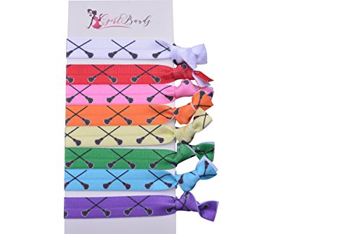 (Infinity Collection Lacrosse Hair Accessories, Lacrosse Hair Ties, No Crease Lacrosse Hair Elastics Set)