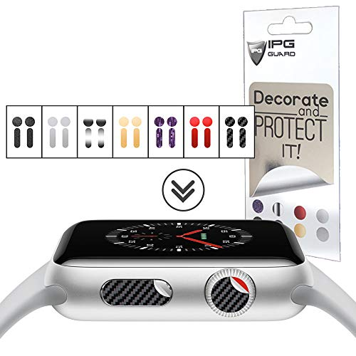 IPG for Apple Watch Crown DOT & Side Button, 28 Decals (14 DOTS + 14 Side Buttons) 7 Sticker Vinyl Cover